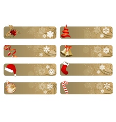 set of different christmas banners vector image
