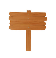Simple empty wooden billboard made of rough planks vector