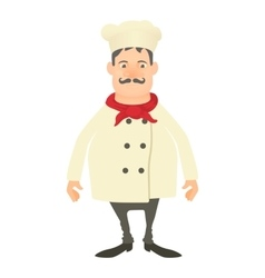 Smiling chef icon cartoon style vector image