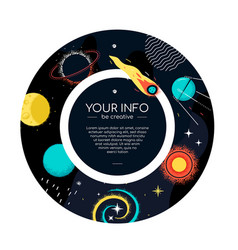 space and astronomy - colorful flat design style vector image