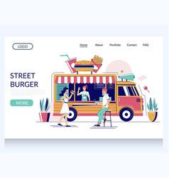street burger website landing page design vector image