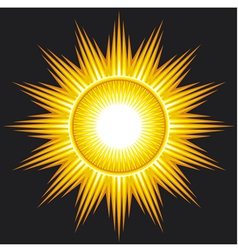 sun on black background vector image