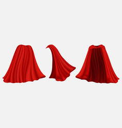 Superhero red silk cloak isolated vector