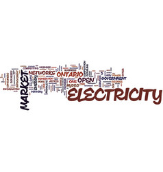 the open electricity market how it affects you vector image