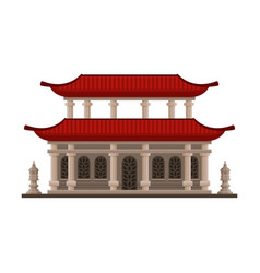 Traditional chinese japanese building pagoda vector