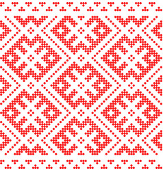traditional russian and slavic ornamentred vector image