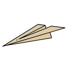 Traditional tattoo a paper aeroplane vector