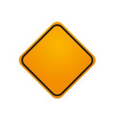 Traffic sign danger warning blank vector