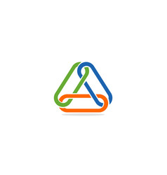 triangle line connection colorful logo vector image