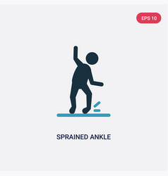 Two color sprained ankle icon from sports concept vector