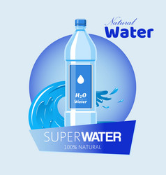 water bottle made plastic banner vector image