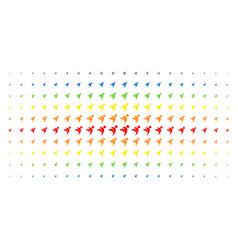 Winged man spectrum halftone pattern vector