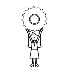 woman cartoon icon image vector image