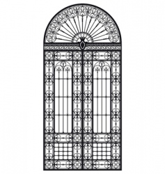 wrought iron portal vector image