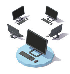 Isometric lowpoly computer vector