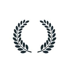 Laurel wreath simple concept logo vector