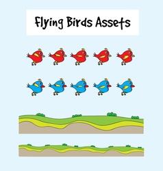 Love birds flying vector image