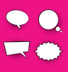 pop art colored speech bubbles vector image vector image