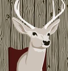 stuffed deer head vector image vector image