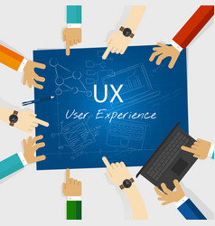 ux user experience web design concept vector image vector image