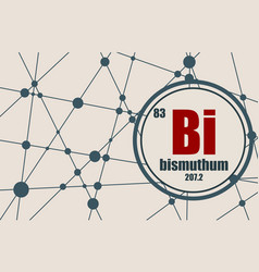 bismuth chemical element vector image vector image