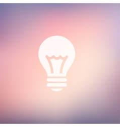 Bulb idea in flat style icon vector image