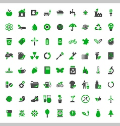 Ecology and environment icons set vector image vector image