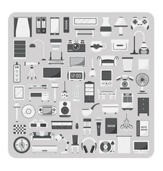 flat icons living room set vector image