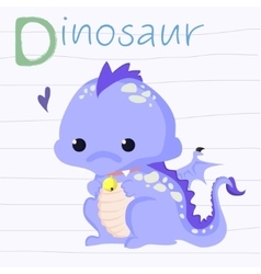 Fun of a cute dinosaur vector image vector image