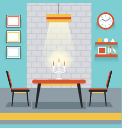 Furniture Display in Room Kitchen Dining Room vector image vector image