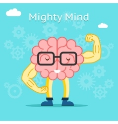 Mighty mind concept Brain with great creative vector image vector image