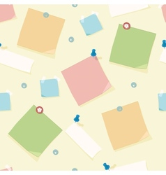 Office supplies seamless pattern background vector image