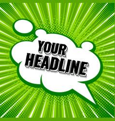 pop art banner vector image