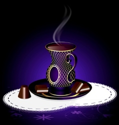tea and chocolate vector image vector image