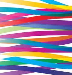 Colorful overlay ribbons abstract background Vivid vector image vector image