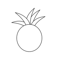 figure pineapple fruit icon stock vector image vector image