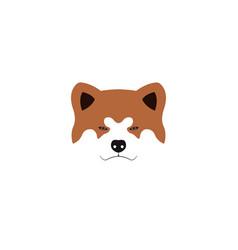 Japanese akita inu dog vector