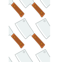 meat cleaver pattern vector image