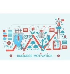 Modern Flat thin Line design Business motivation vector image