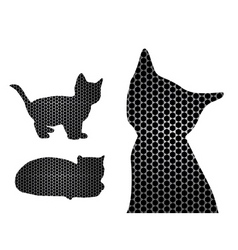 cat silhouettes vector image