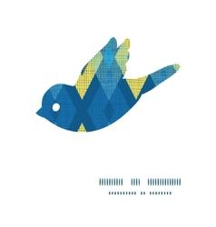 Colorful fabric ikat diamond bird silhouette vector