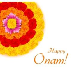 Flower rangoli for onam vector