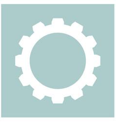 gear the white color icon vector image