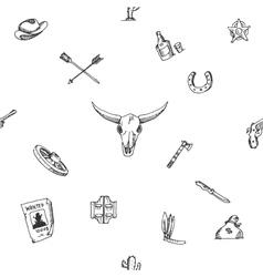 Wild west design sketch pattern vector image