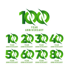 100 years anniversary green celebration template vector
