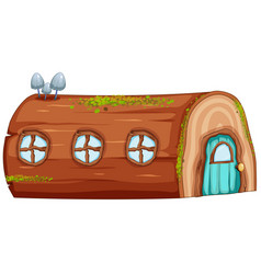 a log house on white background vector image