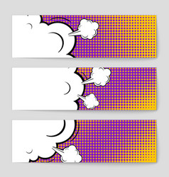 abstract creative concept comic pop art vector image