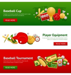 Baseball Banner Set vector image