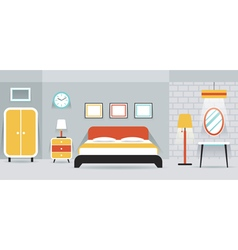 Bedroom Furniture Display Panorama vector image