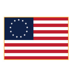 Betsy ross flag isolated vector